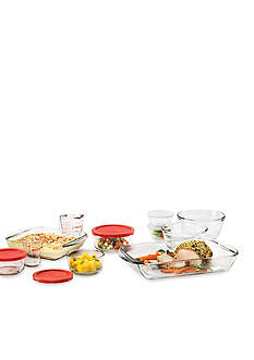 Anchor Hocking Glass 16-Piece Bake-Mix-Measure-Store Set