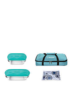 Anchor Hocking Glass 6-Piece Take and Bake Set