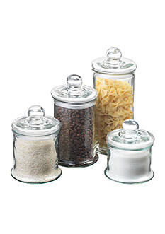 Anchor Hocking Glass 4-Piece Ball Canister Set