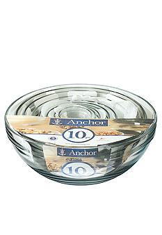Anchor Hocking Glass 10 Piece Mixing Bowl Set - Online Only