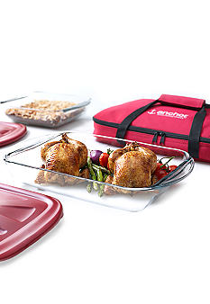 Anchor Hocking Glass 5-piece Bake N Take Set