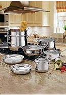 Cuisinart Contour Stainless Steel 13PC Cookware Set - Online Only 4413