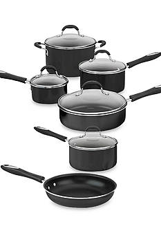Cuisinart Advantage Nonstick Aluminum 11-Piece Black Cookware Set 5511BK