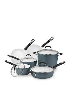 Cuisinart Elements Blue Nonstick Ceramic Aluminum 10-Piece Cookware Set