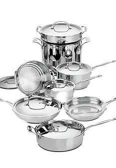 Cuisinart Chef's Classic Stainless-Steel 14pc Cookware Set 7714