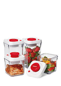 Cuisinart 8-Piece Red Fresh Edge Food Storage Container Set