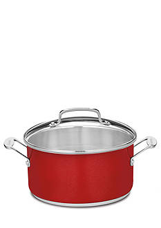 Cuisinart 6-qt. Stockpot With Cover CS4424MR - Metallic Red