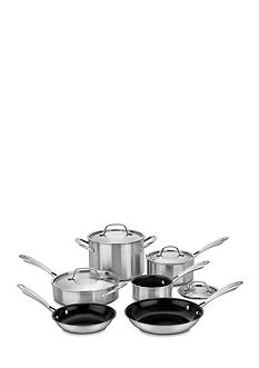 Cuisinart 10-Piece Tri-Ply Stainless Green Gourmet Set