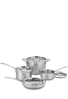 Cuisinart MultiClad Pro Stainless-Steel Cookware 7-Piece Cookware Set - Online Only