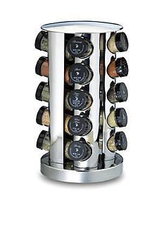 Kamenstein 20-Jar Stainless Steel Revolving Spice Rack