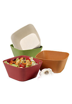 Farberware Set of 4 5-in. Square Bowls