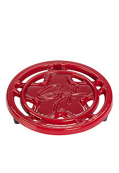 Guy Fieri Porcelain Cast Iron 8-in. Red Trivet