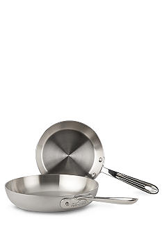 All-Clad Brushed d5 7.5-in. and 9-in. French Skillets Set