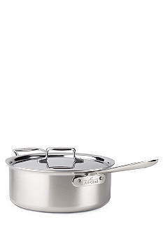 All-Clad Brushed d5 6-qt. Saute Pan with Lid