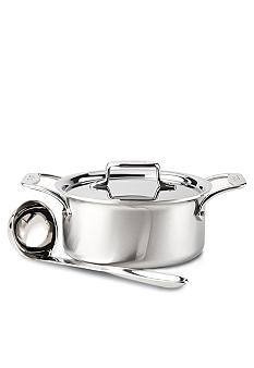 All-Clad Brushed d5 3-qt. Soup Pot with Lid and Ladle