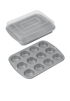 Wilton Bakeware 3pc Cupcake and Cake Utility Pan Set