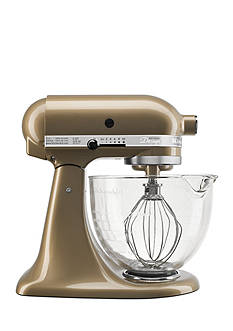 KitchenAid Artisan Design Series 5-Quart Tilt-Head Stand Mixer with Glass Bowl KSM155G