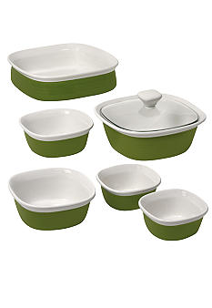 Corningware 7 pc Etch Ceramic set - Online Only