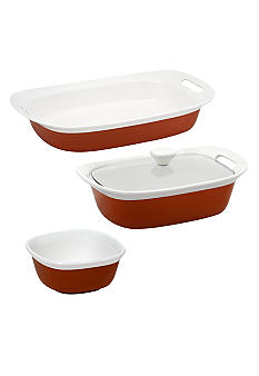 Corningware 4 pc Etch Ceramic Set - Online Only