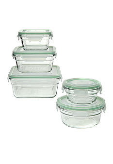 Snapware 10 piece Glass Airtight Food Storage Set
