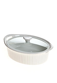 Corningware French White Oval 2.5-qt. Entree Baker with Quiet Close Lid - Online Only