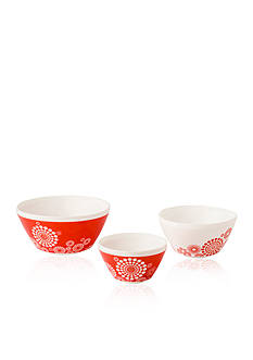 Pyrex Vintage Charm 3-Piece Tickled Pink Bowl Set