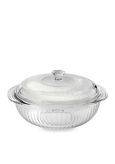 Pyrex 2-qt. Sculpted Casserole Dish with Lid