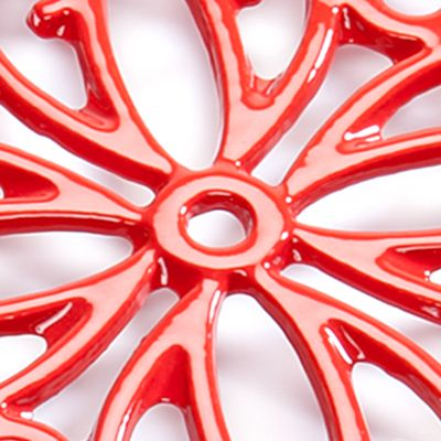 Cooks Tools™ For The Home Sale: Red Cooks Tools™ Round Iron Trivet