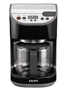 Krups Precision Black 12-Cup Coffee Maker with Glass Carafe KM611850