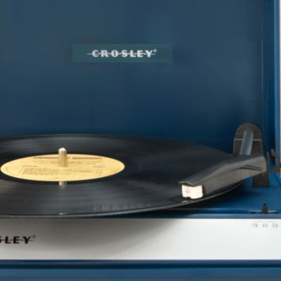 Crosley: Blue Crosley Spinnerette Portable USB Turntable CR6016A - Online Only