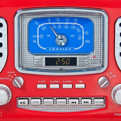 Music Gadgets: Red Crosley CROSLEY CORSAIR - BL