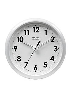 La Crosse Illuminations Illuminated 10 Inch White Frame Clock - Online Only