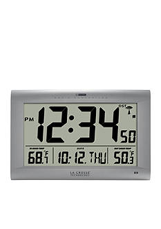 LaCrosse Technology Large Digital Clock with Outdoor Temperature