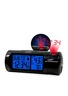 LaCrosse Technology Round LCD Projection Alarm Clock with Out Temperature