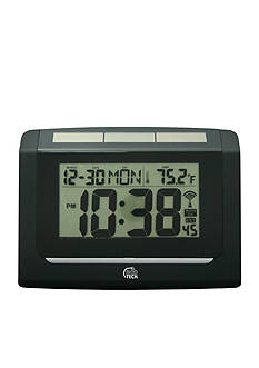 Equity by La Crosse Solar Digital Analog Wall Clock