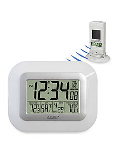 LaCrosse Technology Digital Atomic Wall Clock with Solar Sensor