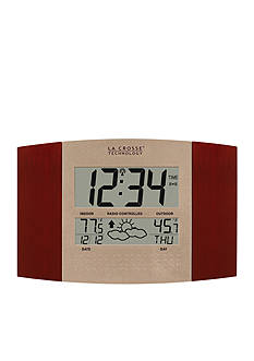 LaCrosse Technology Atomic Clock with Weather Forecast - Online Only