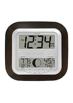 LaCrosse Technology Digital Atomic Wall Clock with Moon Phase