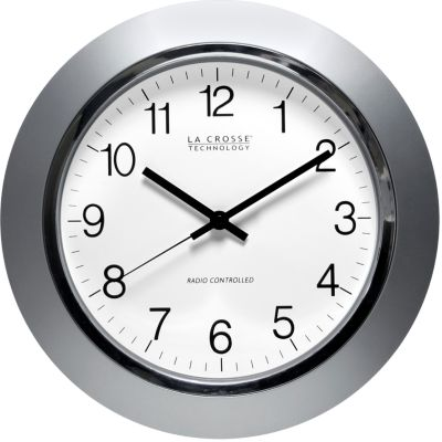 Lacrosse Technology: Silver LaCrosse Technology 14-in. Atomic Analog Wall Clock - Online Only