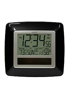 LaCrosse Technology Solar Atomic Digital Clock with Temperature & Humidity - Online Only