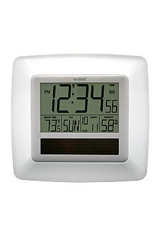 LaCrosse Technology Solar Atomic Digital Wall Clock - Online Only