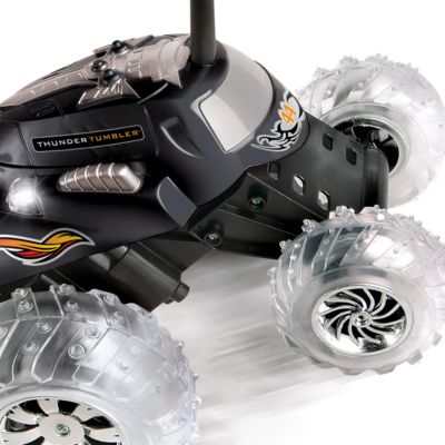 Clearance Toys for Boys: Black The Black Series Remote Controlled Thunder Tumbler 360 Rally Car