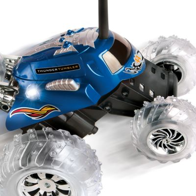 Clearance Toys for Boys: Blue The Black Series Remote Controlled Thunder Tumbler 360 Rally Car