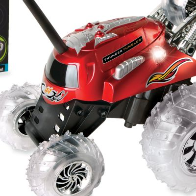 Clearance Toys for Boys: Red The Black Series Remote Controlled Thunder Tumbler 360 Rally Car