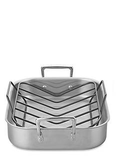 Le Creuset Large Stainless Steel Roasting Set with Nonstick Rack
