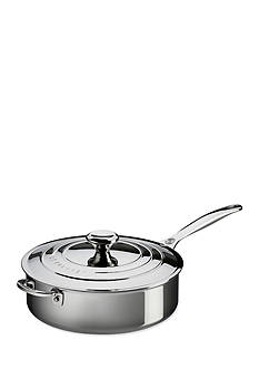 Le Creuset 4.5-qt. Stainless Steel Saute Pan with Lid and Helper Handle