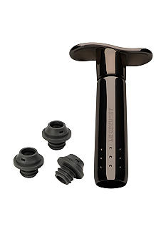 Le Creuset Metal Wine Pump with 3 Stoppers - Online Only