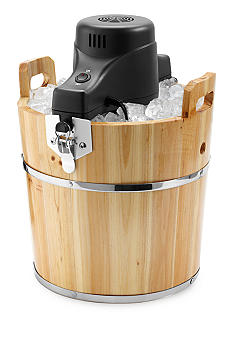 Sunbeam Wooden Bucket Ice Cream Maker 4-Quart FRSBWDBK
