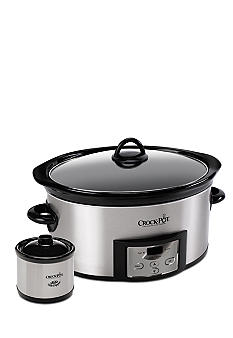 CrockPot Programmable 6qt Slow Cooker with Bonus Little Dipper SCCPVC605S