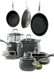 Biltmore For Your Home Hard Anodized Aluminum 13-Piece Belly Shaped Cookware Set